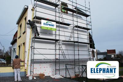 Isolation de fa ade par l ext rieur entreprise d for Entreprise renovation facade